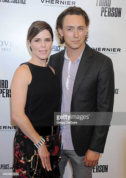 Actors Neve Campbell and JJ Feild arrive at the Los Angeles premiere of 'Third Person' at Pickford Center for Motion Study on June 9 2014 in...