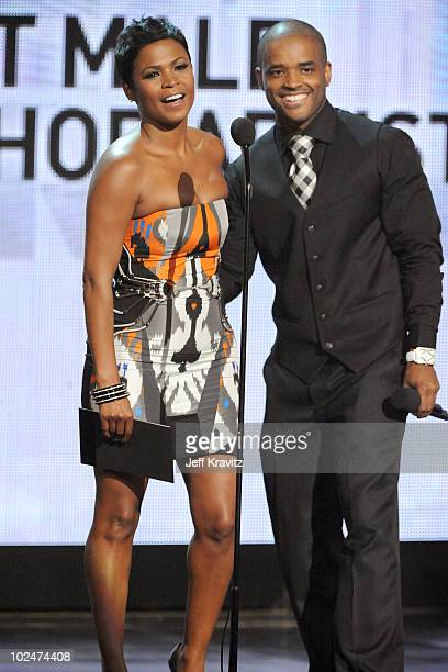 Actors Nia Long and Larenz Tate onstage during the 2010 BET Awards held at the Shrine Auditorium on June 27 2010 in Los Angeles California
