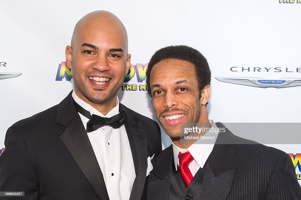 Actors Nicholas Christopher and Jamal Story attend the after party for the Broadway opening night for 'Motown The Musical' at Roseland Ballroom on...