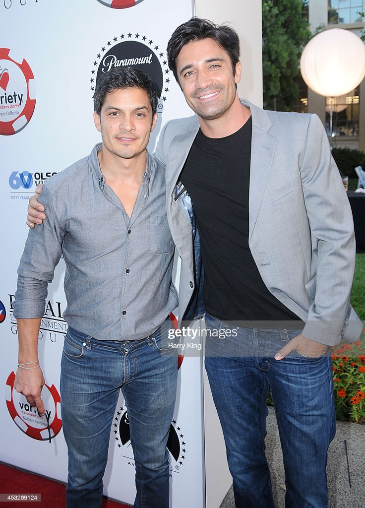 Actors <a gi-track='captionPersonalityLinkClicked' href=/galleries/search?phrase=Nicholas+Gonzalez&family=editorial&specificpeople=215254 ng-click='$event.stopPropagation()'>Nicholas Gonzalez</a> and <a gi-track='captionPersonalityLinkClicked' href=/galleries/search?phrase=Gilles+Marini&family=editorial&specificpeople=5360860 ng-click='$event.stopPropagation()'>Gilles Marini</a> attend the 4th annual Variety's Texas Hold 'Em poker tournament to benefit 'The Children's Charity Of Southern California' at Paramount Studios on July 16, 2014 in Hollywood, California.