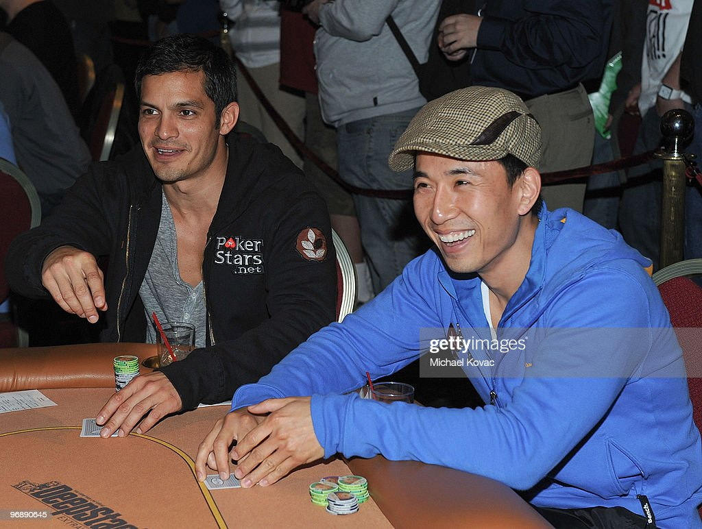 Actors Nicholas Gonzalez and James Kyson Lee participate in Pokerstarsnet's Celebrity Charity Poker Tournament at Venetian Hotel and Casino Resort on...