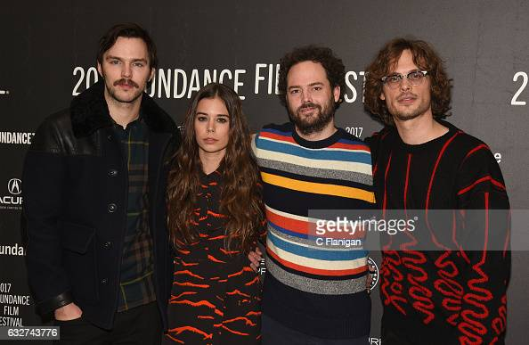 Actors Nicholas Hoult and Laia Costa director Drake Doremus and actor Matthew Gray Gubler attend the 'Newness' Premiere on day 7 of the 2017 Sundance...