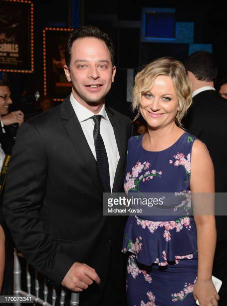 Actors Nick Kroll and Amy Poehler attend 41st AFI Life Achievement Award Honoring Mel Brooks at Dolby Theatre on June 6 2013 in Hollywood California...