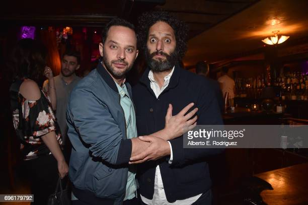 Actors Nick Kroll and Jason Mantzoukas attend the after party for the premiere of Sony Pictures' 'Baby Driver' on June 14 2017 in Los Angeles...