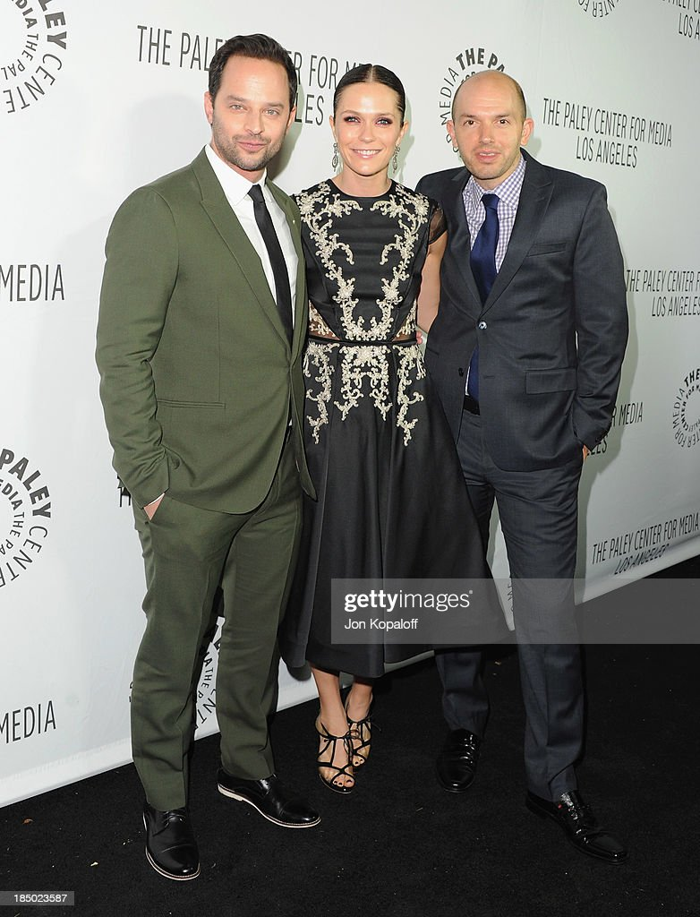 Actors <a gi-track='captionPersonalityLinkClicked' href=/galleries/search?phrase=Nick+Kroll&family=editorial&specificpeople=4432339 ng-click='$event.stopPropagation()'>Nick Kroll</a>, <a gi-track='captionPersonalityLinkClicked' href=/galleries/search?phrase=Katie+Aselton&family=editorial&specificpeople=6457083 ng-click='$event.stopPropagation()'>Katie Aselton</a> and <a gi-track='captionPersonalityLinkClicked' href=/galleries/search?phrase=Paul+Scheer&family=editorial&specificpeople=805513 ng-click='$event.stopPropagation()'>Paul Scheer</a> arrive at The Paley Center for Media Hosts 2013 Benefit Gala Honoring FX Networks on October 16, 2013 in Los Angeles, California.