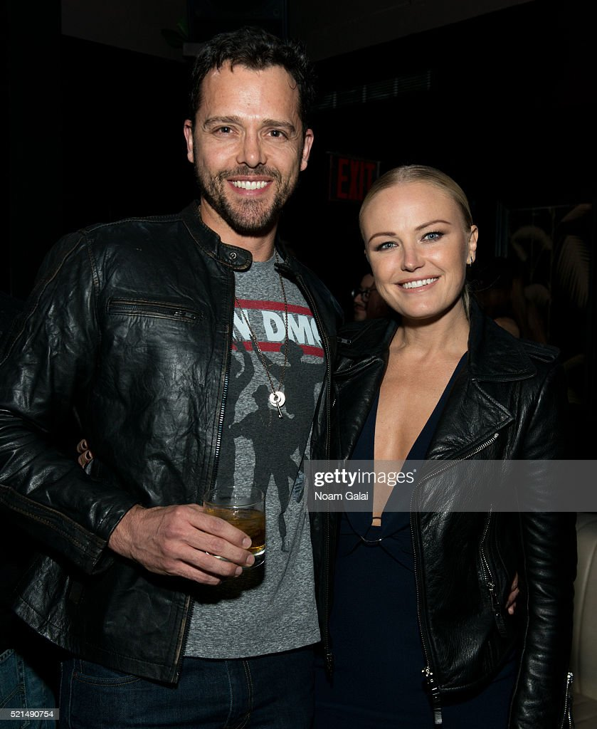 Actors Nick Mennell and Malin Akerman attend the 'Wolves' after party during 2016 Tribeca Film Festival at No. 8 on April 15, 2016 in New York City.