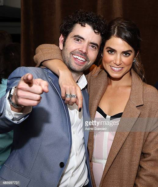 Actors Nick Rutherford and Nikki Reed attend the 'Intramural' Premiere after party during the 2014 Tribeca Film Festival at Neuehouse on April 21...