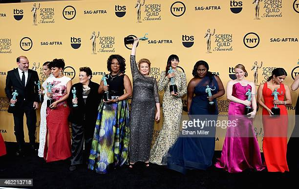 Actors Nick Sandow Dascha Polanco Selenis Leyva Barbara Rosenblat Lorraine Toussaint Catherine Curtin Jackie Cruz Danielle Brooks Emma Myles and...