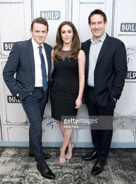 Actors Nick Westrate Heather Lind and Ian Kahn visit Build Studio to discuss 'TURN Washington's Spies' at Build Studio on June 15 2017 in New York...