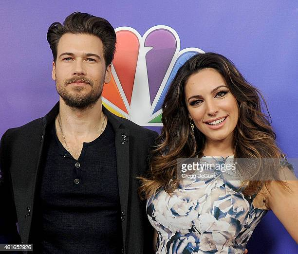 Actors Nick Zano and Kelly Brook arrive at day 2 of the NBCUniversal 2015 Press Tour at The Langham Huntington Hotel and Spa on January 16 2015 in...