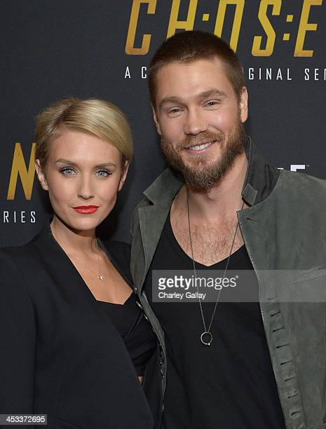 Actors Nicky Whelan and Chad Michael Murray attend Crackle's 'Chosen' season 2 premiere screening at The Grove on December 3 2013 in Los Angeles...