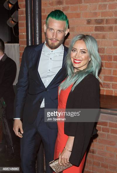 Actors Nico Tortorella and Hilary Duff attend the premiere of TV Land's 'Younger' after party at Chef's Club on March 31 2015 in New York City
