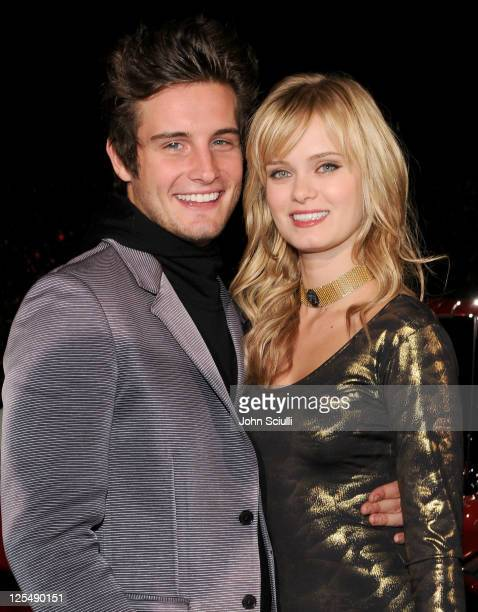 Actors Nico Tortorella and Sara Paxton arrive at the Range Rover Evoque VIP launch party at Cecconi's Restaurant on November 16 2010 in Los Angeles...