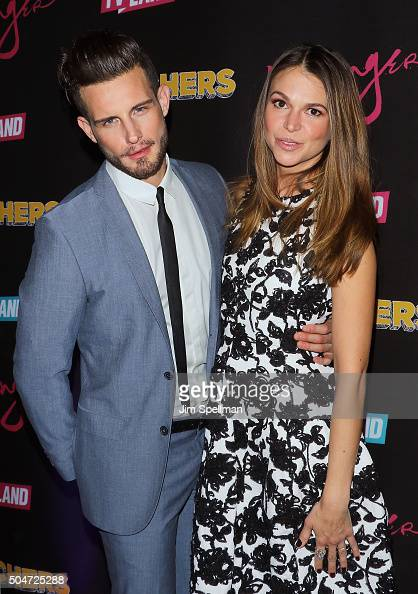 Actors Nico Tortorella and Sutton Foster attend the 'Younger' season 2 and 'Teachers' series premiere at The NoMad Hotel on January 12 2016 in New...