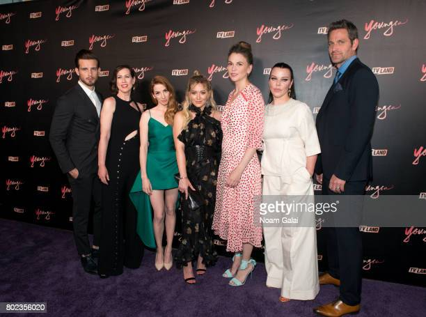 Actors Nico Tortorella Miriam Shor Molly Kate Bernard Hilary Duff Sutton Foster Debi Mazar and Peter Hermann attend the 'Younger' season four...