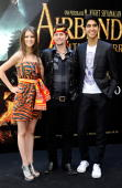 Actors Nicola Peltz Jackson Rathbone and Dev Patel attend a photocall for 'Airbender El Ultimo Guerrero' at the Villamagna Hotel on July 13 2010 in...