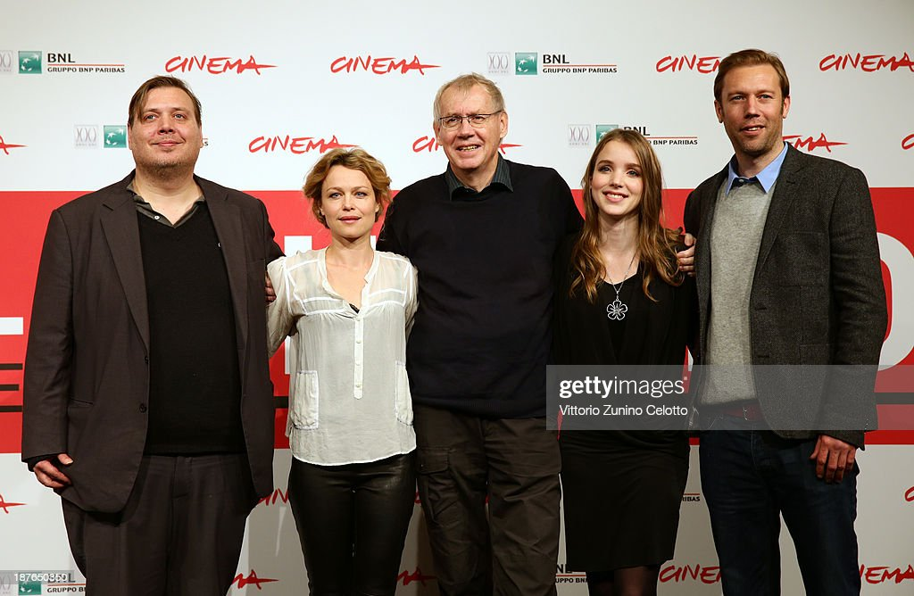 Actors Nicolas Bro, Helle Fagralid, director Nils Malmros, Maja Dybboe and actor <a gi-track='captionPersonalityLinkClicked' href=/galleries/search?phrase=Jakob+Cedergren&family=editorial&specificpeople=2394592 ng-click='$event.stopPropagation()'>Jakob Cedergren</a> attend the 'Sorrow And Joy' Photocall during the 8th Rome Film Festival at the Auditorium Parco Della Musica on November 11, 2013 in Rome, Italy.