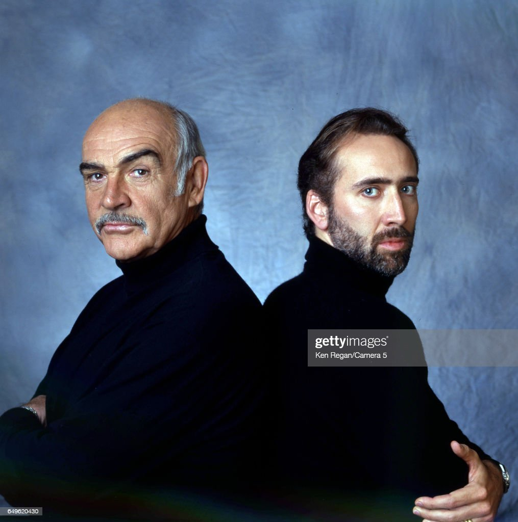 Actors Nicolas Cage and Sean Connery are photographed for Entertainment Weekly Magazine in 1996 in New York, City. COVER IMAGE.
