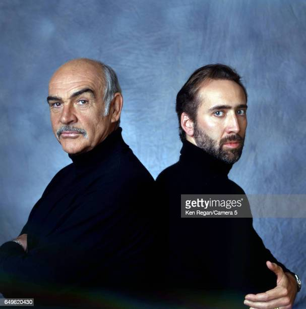 Actors Nicolas Cage and Sean Connery are photographed for Entertainment Weekly Magazine in 1996 in New York City COVER IMAGE CREDIT MUST READ Ken...