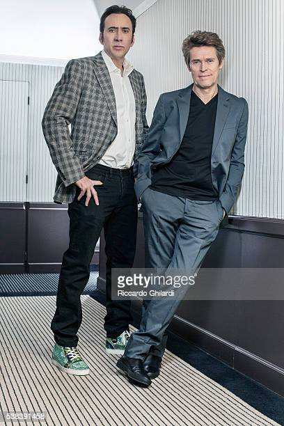 Actors Nicolas Cage and Willem Dafoe are photographed for Self Assignment on May 21 2016 in Cannes France