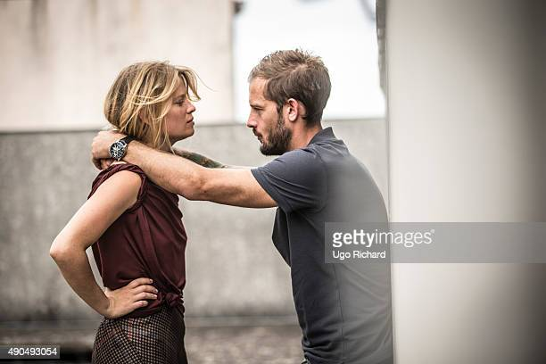 Actors Nicolas Duvauchelle and Melanie Thierry are photographed for Gala on August 31 2015 in Angouleme France