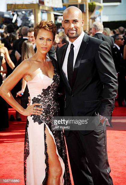 Actors Nicole Ari Parker and Boris Kodjoe arrive at the 62nd Annual Primetime Emmy Awards held at the Nokia Theatre LA Live on August 29 2010 in Los...
