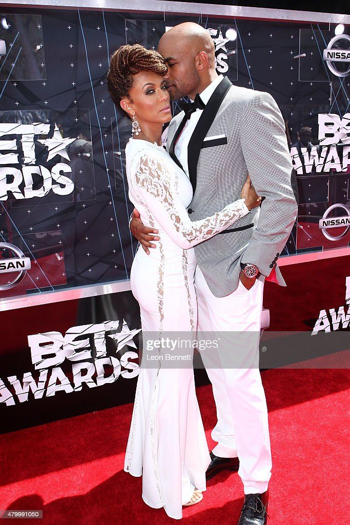 Actors Nicole Ari Parker and Boris Kodjoe arrived at the BET Make A Wish Foundation Recipients BET Experience At LA Live Red Carpet arrivals Weekend...