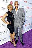 Actors Nicole Ari Parker and Boris Kodjoe attend HollyRod Foundation's DesignCare Gala on July 16 2016 in Pacific Palisades California