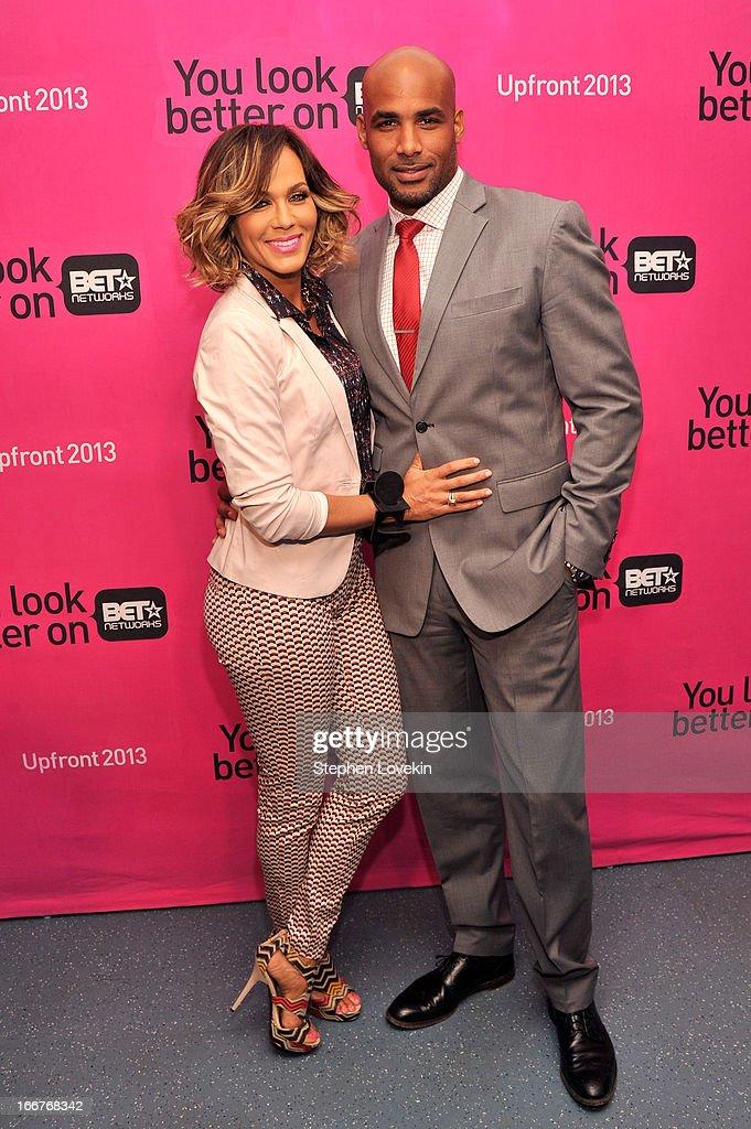 Actors Nicole Ari Parker and Boris Kodjoe attend the BET Networks 2013 New York Upfront on April 16 2013 in New York City