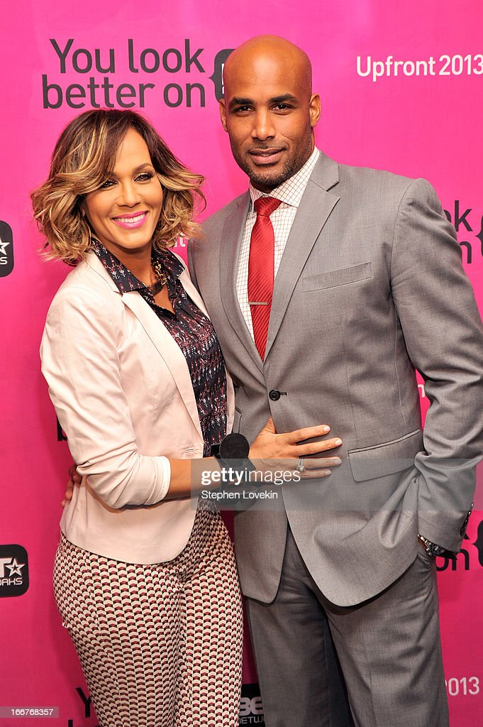 Actors Nicole Ari Parker (L) and Boris Kodjoe attend the BET Networks 2013 New York Upfront on April 16, 2013 in New York City.