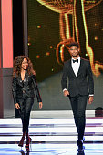 Actors Nicole Beharie and Alfred Enoch speak onstage at the 46th Annual NAACP Image Awards on February 6 2015 in Pasadena California