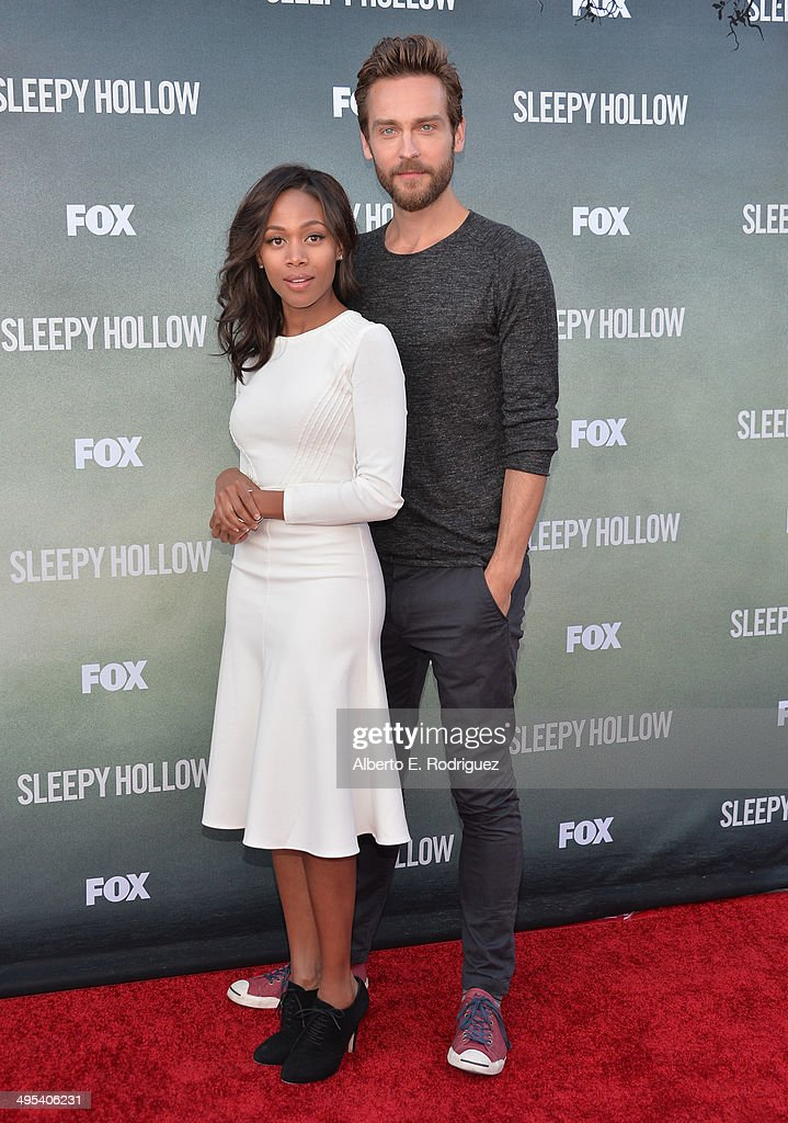 Actors Nicole Beharie and Tom Mison arrive to a special screening of Fox's 'Sleepy Hollow' at Hollywood Forever on June 2, 2014 in Hollywood, California.