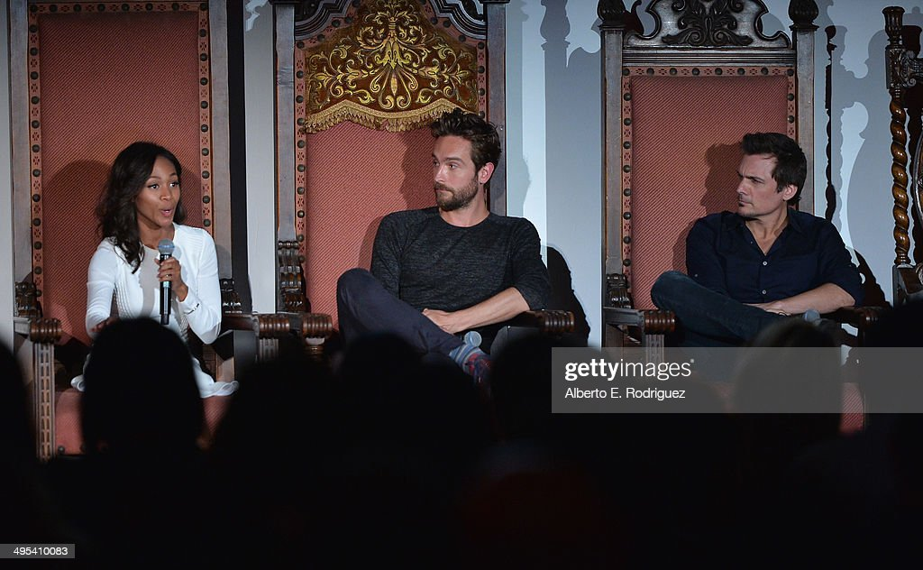Actors Nicole Beharie, Tom Mison and executive producer Len Wiseman attend a special screening of Fox's 'Sleepy Hollow' at Hollywood Forever on June 2, 2014 in Hollywood, California.