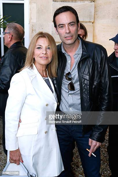Actors Nicole calfan and Anthony Delon attend Museum Paul Belmondo celebrates its 5th Anniversary on April 13 2015 in BoulogneBillancourt France