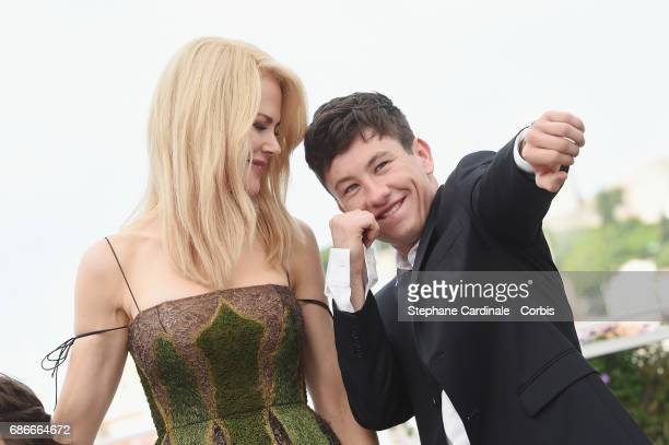 Actors Nicole Kidman and Barry Keoghan attend the 'The Killing Of A Sacred Deer' photocall during the 70th annual Cannes Film Festival at Palais des...