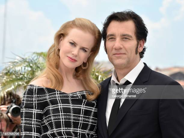 Actors Nicole Kidman and Clive Owen pose at the 'Hemingway Gellhorn' Photocall during the 65th Annual Cannes Film Festival at Palais des Festivals on...