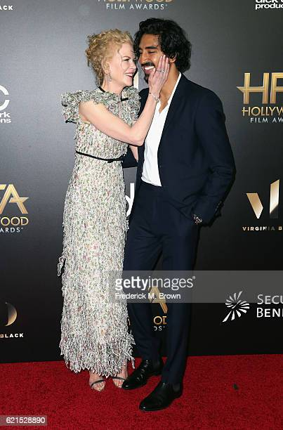 Actors Nicole Kidman and Dev Patel attend the 20th Annual Hollywood Film Awards on November 6 2016 in Beverly Hills California
