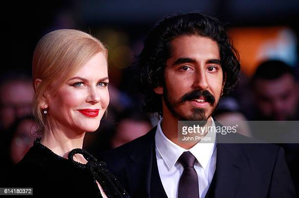 Actors Nicole Kidman and Dev Patel attend the 'Lion' American Express Gala screening during the 60th BFI London Film Festival at Odeon Leicester...