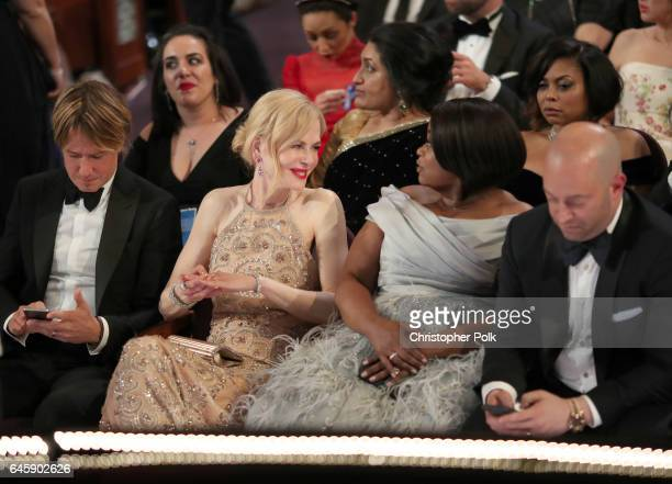 Actors Nicole Kidman and Octavia Spencer attend the 89th Annual Academy Awards at Hollywood Highland Center on February 26 2017 in Hollywood...