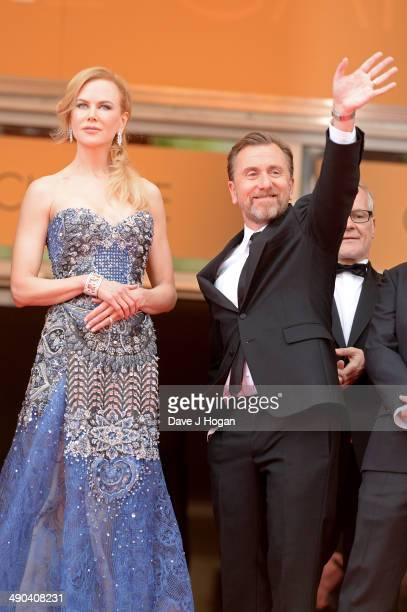 Actors Nicole Kidman and Tim Roth attend the Opening ceremony and the 'Grace of Monaco' Premiere during the 67th Annual Cannes Film Festival on May...