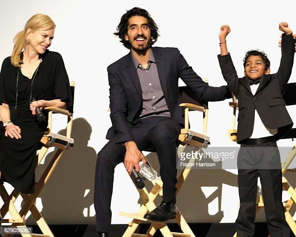 Actors Nicole Kidman Dev Patel and Sunny Pawar attend Australians In Film Presents 'Lion' Screening and QA at Harmony Gold Theatre on December 10...