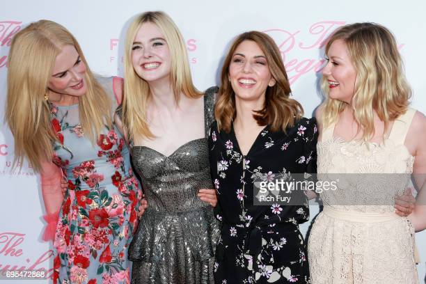 Actors Nicole Kidman Elle Fanning director Sofia Coppola and actor Kirsten Dunst attend the premiere of Focus Features' 'The Beguiled' at Directors...
