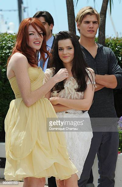 Actors Nicole LaLiberte Roxane Mesquida and Andy FischerPrice attend the 'Kaboom' Photo Call held at the Palais des Festivals during the 63rd Annual...