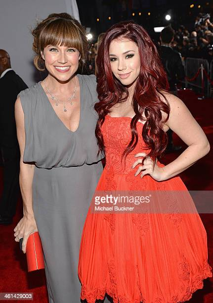 Actors Nikki DeLoach and Jillian Rose Reed attend The 40th Annual People's Choice Awards at Nokia Theatre LA Live on January 8 2014 in Los Angeles...