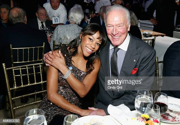 Actors Nikki M James and Christopher Plummer attend Autism Speaks Celebrity Chef Gala 2014 at Cipriani Wall Street on November 3 2014 in New York City