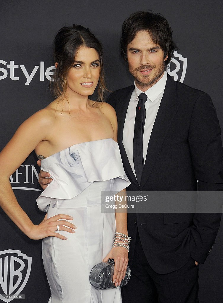 Actors <a gi-track='captionPersonalityLinkClicked' href=/galleries/search?phrase=Nikki+Reed&family=editorial&specificpeople=220844 ng-click='$event.stopPropagation()'>Nikki Reed</a> and <a gi-track='captionPersonalityLinkClicked' href=/galleries/search?phrase=Ian+Somerhalder&family=editorial&specificpeople=614226 ng-click='$event.stopPropagation()'>Ian Somerhalder</a> arrive at the 16th Annual Warner Bros. And InStyle Post-Golden Globe Party at The Beverly Hilton Hotel on January 11, 2015 in Beverly Hills, California.