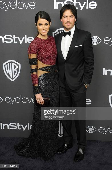 Actors Nikki Reed and Ian Somerhalder arrive at the 18th Annual PostGolden Globes Party hosted by Warner Bros Pictures and InStyle at The Beverly...