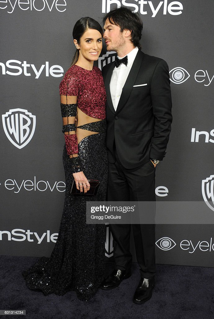 Actors Nikki Reed and Ian Somerhalder arrive at the 18th Annual Post-Golden Globes Party hosted by Warner Bros. Pictures and InStyle at The Beverly Hilton Hotel on January 8, 2017 in Beverly Hills, California.