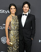 Actors Nikki Reed and Ian Somerhalder arrive at the 2016 InStyle And Warner Bros 73rd Annual Golden Globe Awards PostParty at The Beverly Hilton...