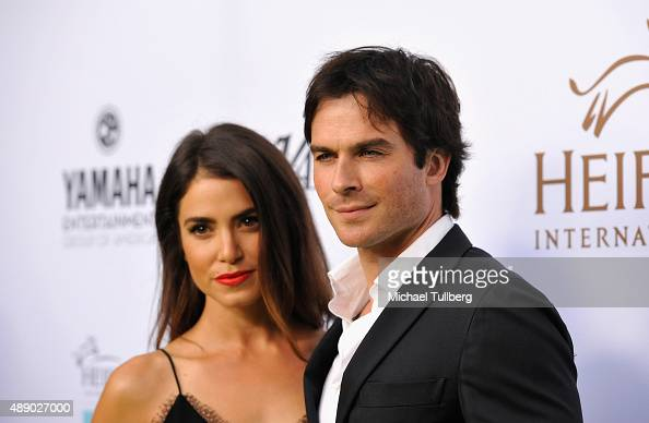 Actors Nikki Reed and Ian Somerhalder attend Heifer International's 4th Annual Beyond Hunger Gala at Montage Beverly Hills on September 18 2015 in...
